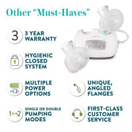 evenflo advanced breast pump